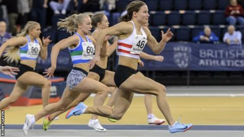 Clark, already a double 4x400m world medallist, claimed two medals at the Scottish Senior Championships