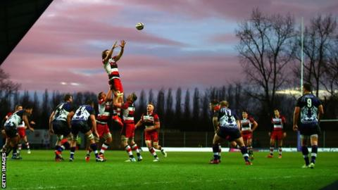 London Welsh in action at the Kassam Stadium