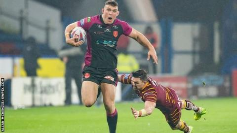 Man of the match Robbie Mulhern's 80-yard gallop set up the fourth of Rovers' six tries