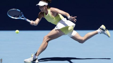 Australian Open: Muguruza struggles with heat as upsets pile up