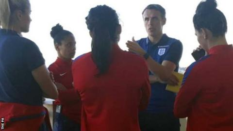 Phil Neville met the England team at their training camp at La Manga this week