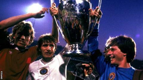 Gordon Cowans (centre) was part of Villa's greatest night, the European Cup final win over Bayern Munich in Rotterdam in 1982