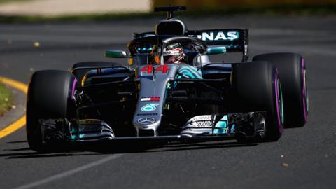 Lewis Hamilton in action at the Australian Grand Prix