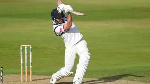 County Championship: Matt Lamb finishes with career-best 173