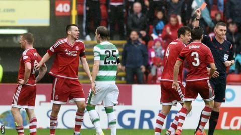 Craig Thomson sends off Jonny Hayes