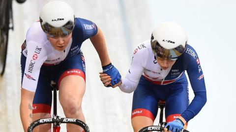 Great Britain's Katie Archibald and Laura Kenny