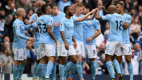 Champion Man City crush Swansea amid Celebrations