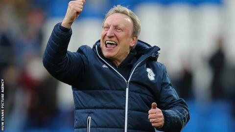 Neil Warnock celebrates win against Middlesbrough