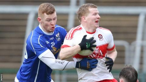Derry beat Cavan 1-17 to 1-10 in the Dr McKenna Cup semi-finals in January