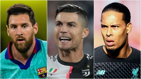 Lionel Messi, Cristiano Ronaldo & Virgil van Dijk