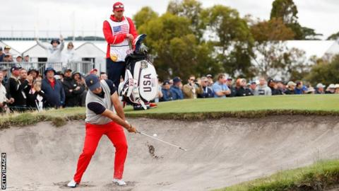 Presidents Cup: Patrick Reed's caddie involved in altercation with fan