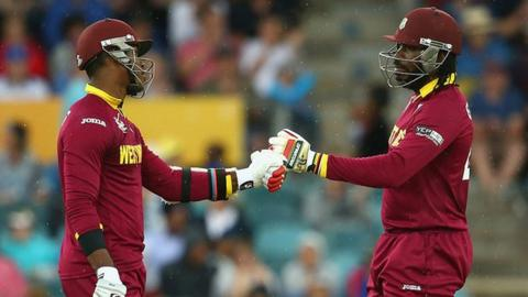 Marlon Samuels and Chris Gayle