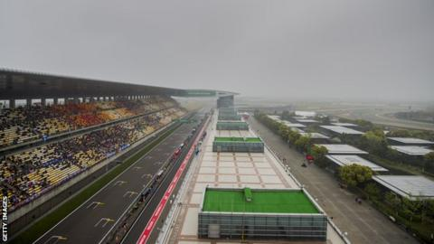 The Shanghai circuit was plagued by poor visibility as well as rain during first practice
