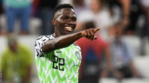 Nigeria defender Kenneth Omeruo