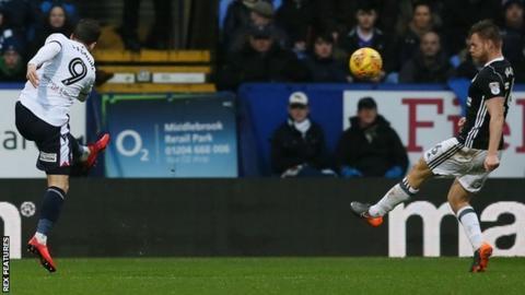 Adam Le Fondre scores for Bolton