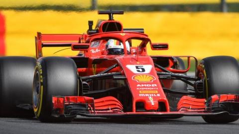 Sebastian Vettel in action fro Ferrari