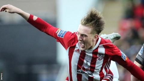 Ronan Curtis played the full game for Derry ahead of his move to Portsmouth on 9 June