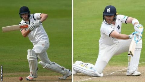 Warwickshire batsmen Dom Sibley (left) and Ian Bell have so far put on 185