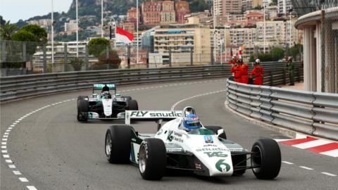 Rosbergs do a lap of Monaco