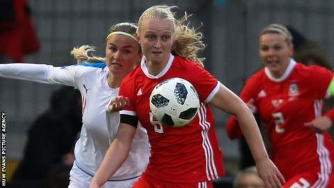 Everton striker Elise Hughes has been capped twice by Wales