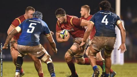 Rory Thornton won his first senior Wales cap against Samoa on the 2017 summer tour