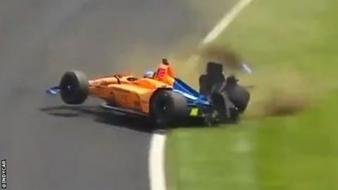 Fernando Alonso at the Indianapolis 500