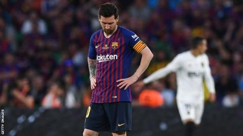 e4a8a951b Copa del Rey final  Valencia end Barcelona s double dream - BBC Sport