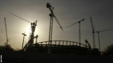 A World Cup stadium under construction