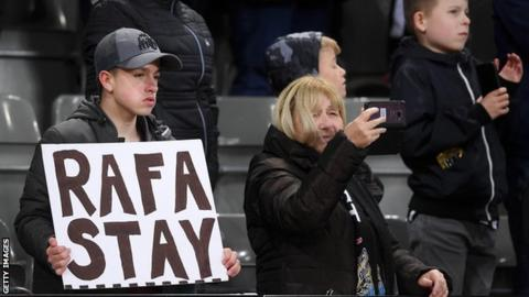 Newcastle United fans have been calling for Rafa Benitez to stay on at St James' Park