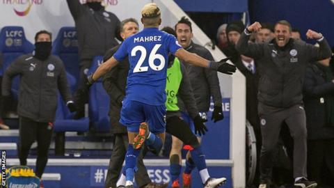 Mahrez scored a stoppage-time 25-yard free-kick to snatch a draw for Leicester City against Bournemouth