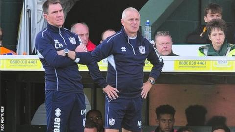 Chris Morgan (left) and David Kelly took charge of Vale's 1-1 draw at Yeovil on Saturday
