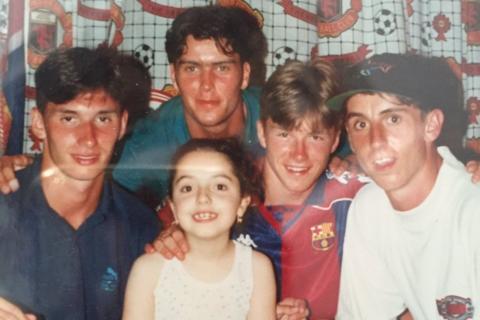 David Beckham in Barcelona shirt