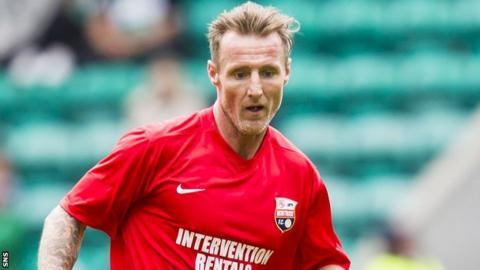 Montrose forward Gary Fraser
