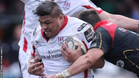 Nick Williams in action for Ulster against Newport Gwent Dragons