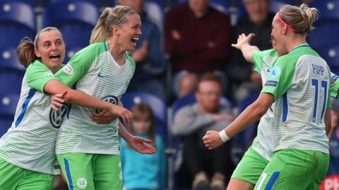 Wolfsburg celebrate