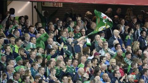 Northern Ireland supporters were in fine voice as qualification for Euro 2016 looms large
