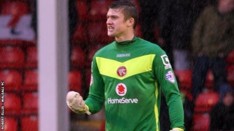 Walsall goalkeeper Liam Roberts