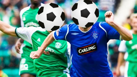 Hibs v Rangers quiz graphic