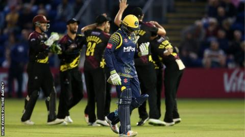 Glamorgan made a promising start thanks to opener Usman Khawaja's 44 but then fell away after his dismissal