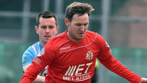 Gary Twigg joins Coleraine from Portadown