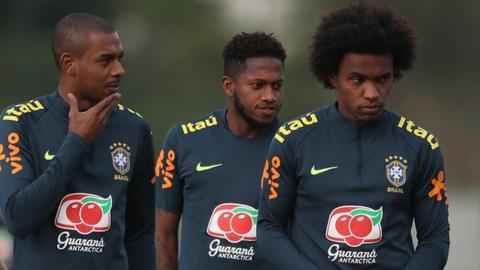 Fernandinho, Fred and Willian