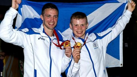 Josh Taylor (left) and Charlie Flynn both won medals in Glasgow 2014 after previously competing in the Commonwealth Youth Games