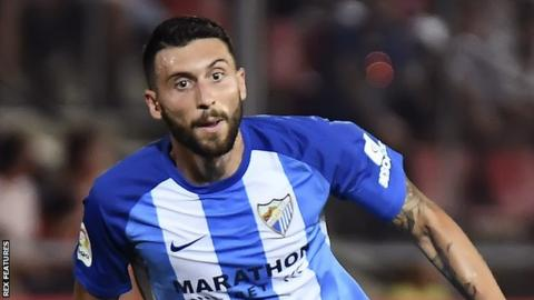 Borja in action for Malaga in August, 2017