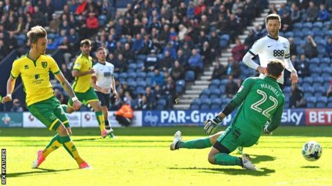 James Maddison scores Norwich's third goal