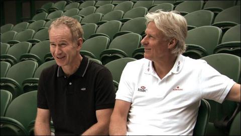 John McEnroe and Bjorn Borg