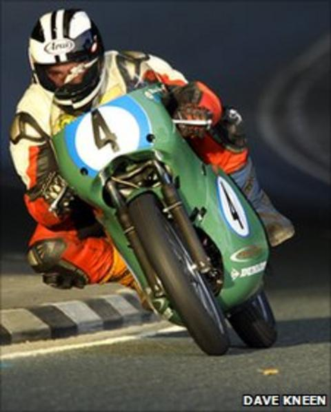 Michael Dunlop on a Aermacchi at Greeba Castle - www.manxphotosonline.com
