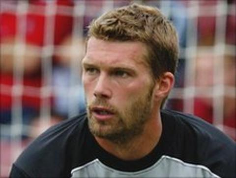 Walsall goalkeeper Jimmy Walker