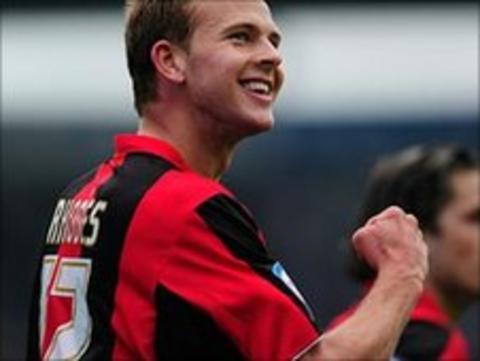 Jordan Rhodes celebrates with Huddersfield
