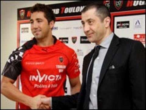 Gavin Henson and Toulon president Mourad Boudjellal