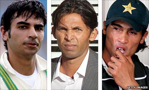 Salman Butt, Mohammad Asif and Mohammad Amir